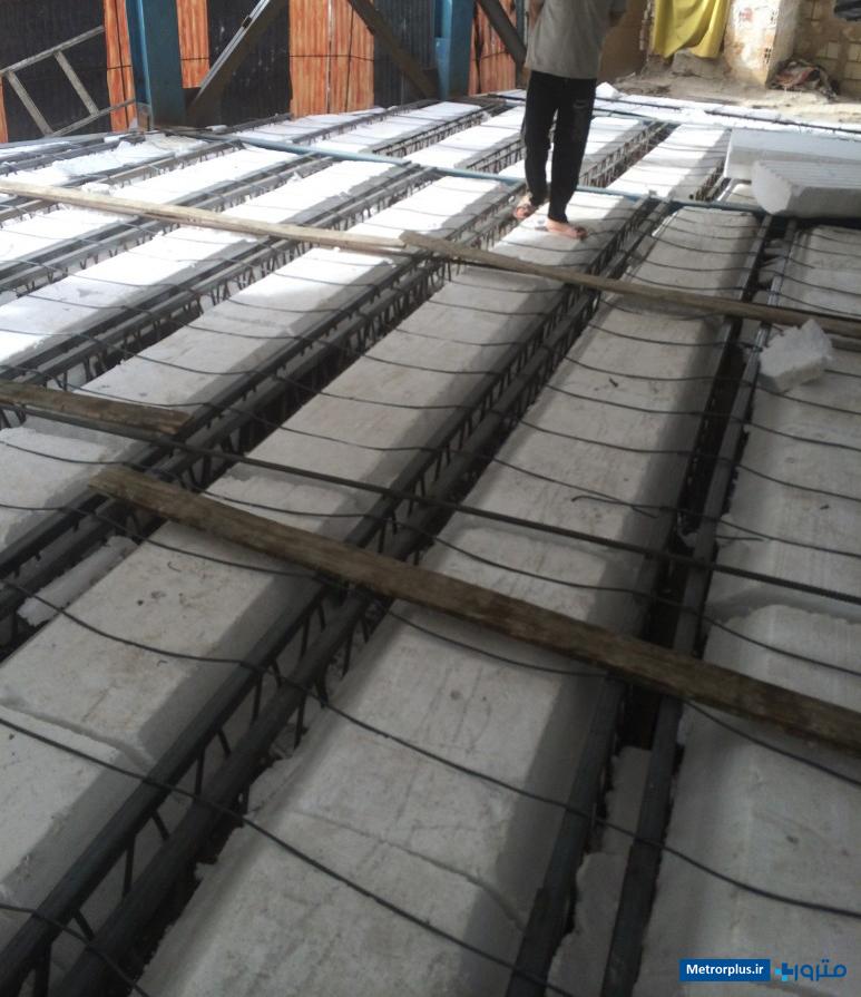 سقف تیرچه کرومیت با بلوک پرکننده پلی استایرن
